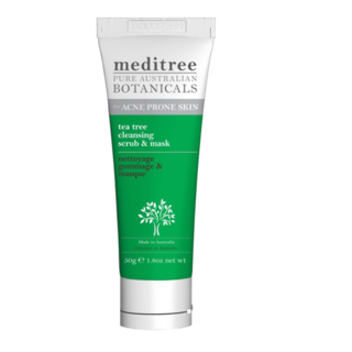 Meditree Tea Tree Cleansing Face Scrub & Mask with Kaolin Clay 50g